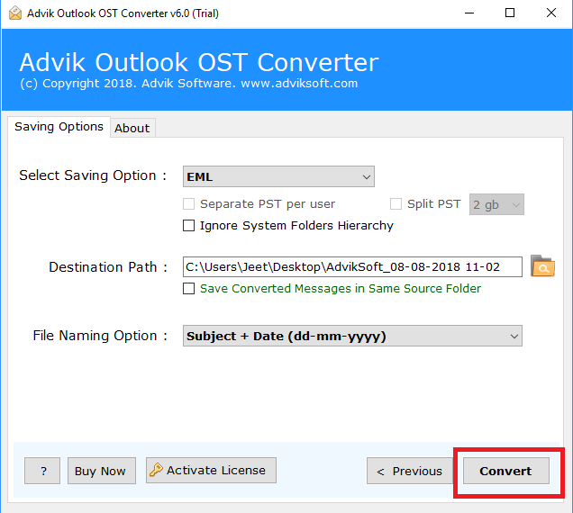 best ost to eml converter