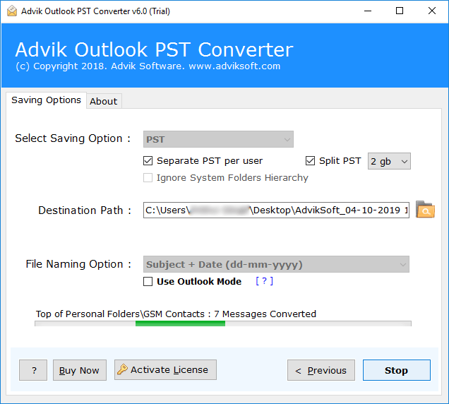 split pst file without outlook